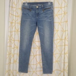 MICHAEL KORS Zipper Pocket Skinny Jeans Light Wash